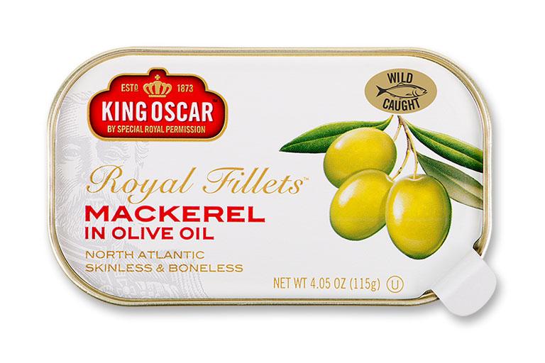 Skinless & Boneless Mackerel Fillets in Olive Oil