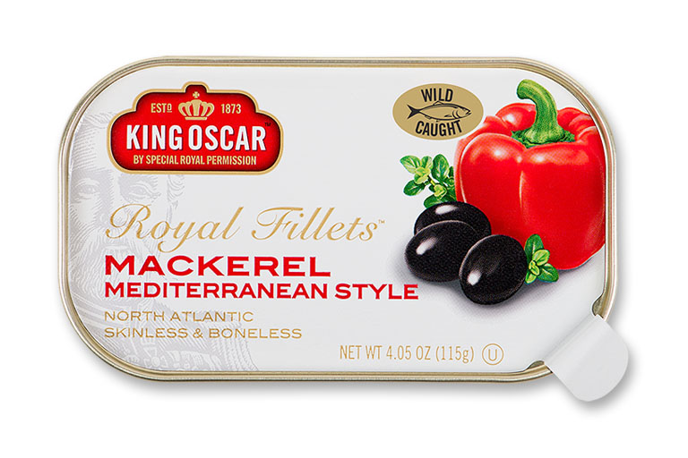 Skinless & Boneless Mackerel Fillets Mediterranean Style