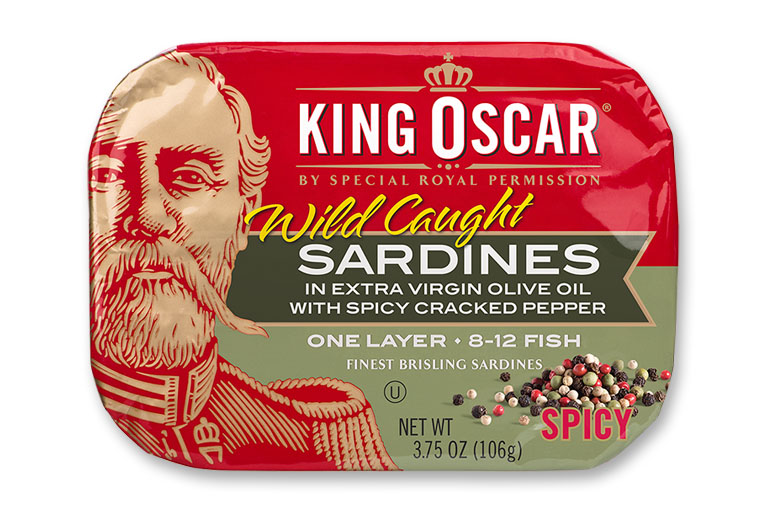 Brisling Sardines with Spicy Cracked Pepper