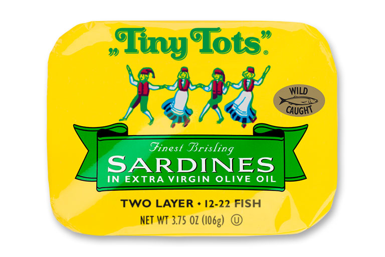 Tiny Tots Brisling Sardines in Extra Virgin Olive Oil