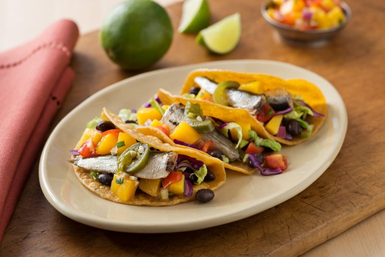 Sardine Tacos with Fruit Salsa
