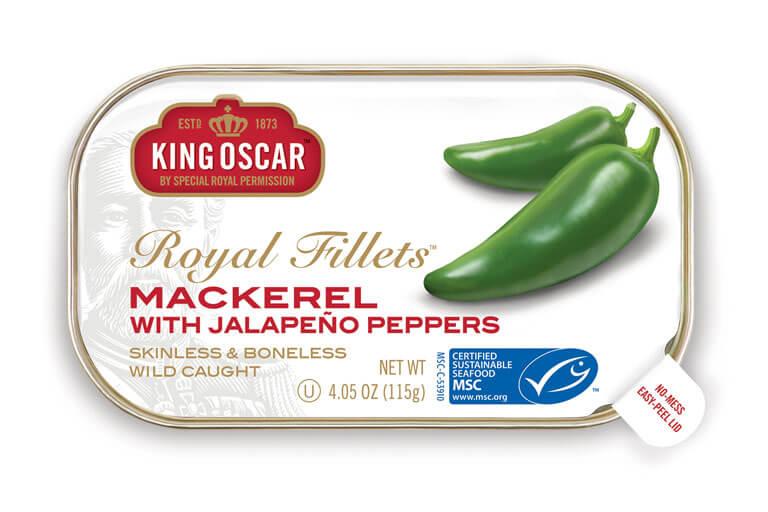 Skinless & Boneless Mackerel Fillets with Jalapeño Peppers
