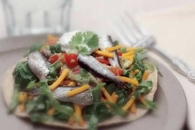 sardine-tostada