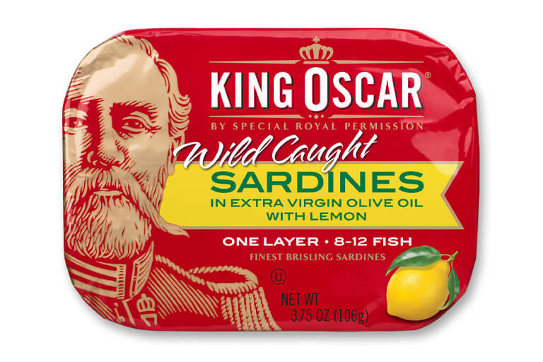 Brisling Sardines in Extra Virgin Olive Oil with Lemon