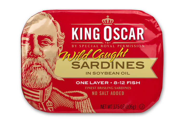 Brisling Sardines in Soybean Oil – No Salt Added