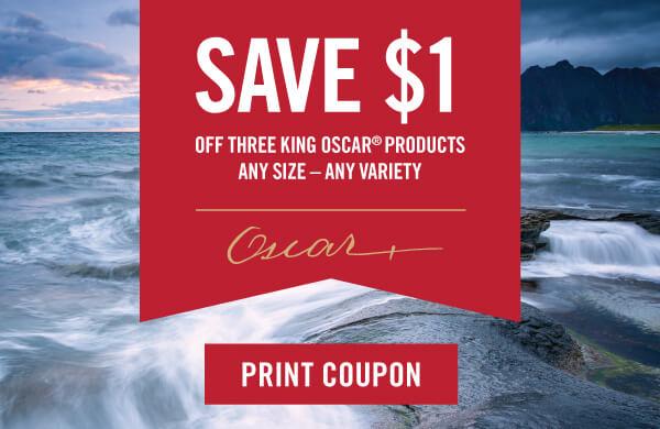 king oscar coupon 1 dollar off