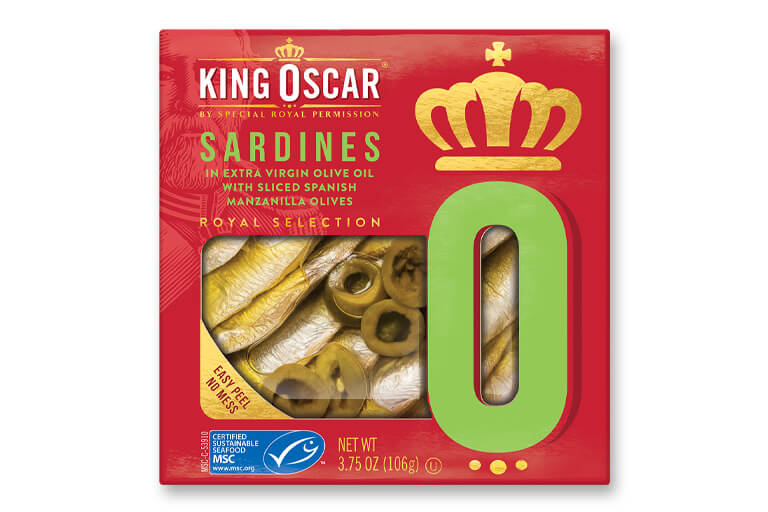 Brisling Sardines in Extra Virgin Olive Oil with Spanish Manzanilla Olives