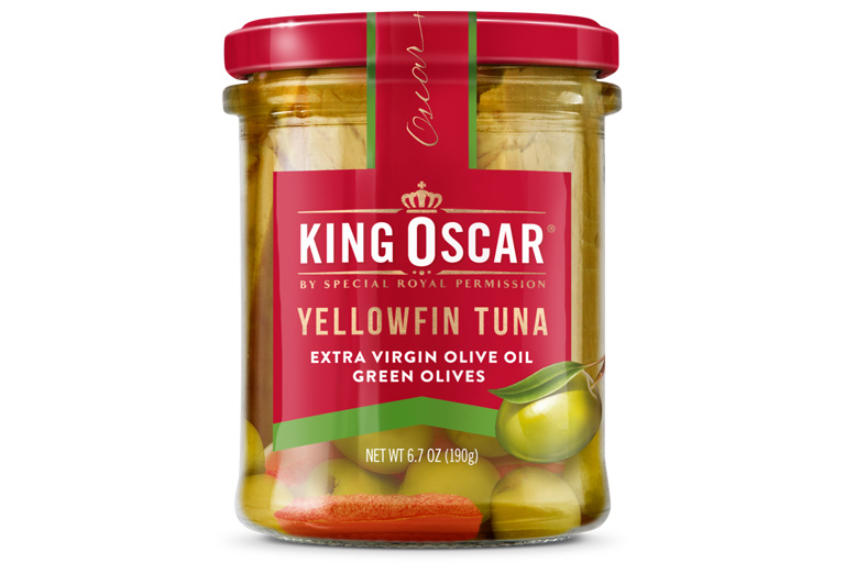 Yellowfin Tuna in Extra Virgin Olive Oil with Green Olives